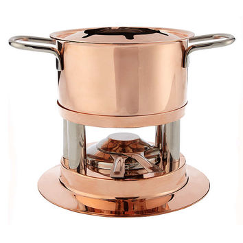 John Lewis Croft Collection Copper Fondue Set at John Lewis