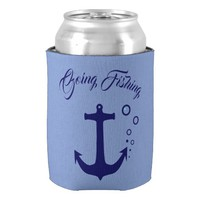 Custom Going Fishing Anchor Can Cooler
