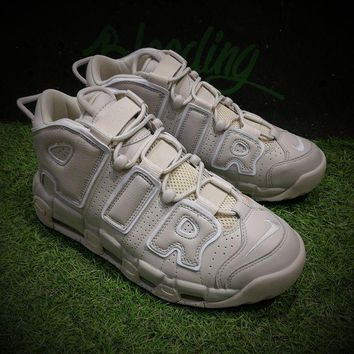 LMFON Best Online Sale Nike Air More Uptempo OG  Sport Baskerball Shoes Light Bone Sneaker