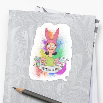 'Louise Belcher' Sticker by laurajean1