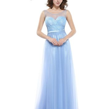 [Clearance Sale] Sexy Ice Blue Prom Dresses Ever Pretty HE08833IB Sexy V-neck back Vestidos De Desta Longo Prom Dresses