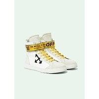 Off-white Arrows High Top Sneakers ¡°White&Gold¡±OMIA051F173500201001