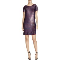 French Connection Womens Sequined Short Sleeves Cocktail Dress
