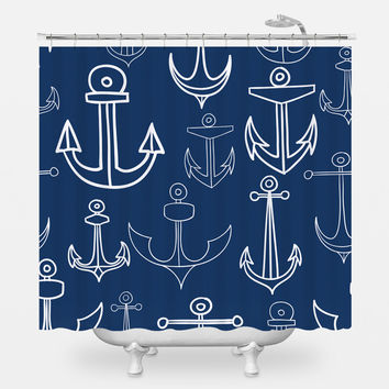 Anchors Aweigh Shower Curtain