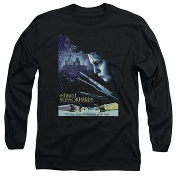 Edward Scissorhands - Poster Long Sleeve Adult 18/1 Officially Licensed Shirt