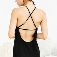 Out From Under High-Neck Strappy Back Slip Dress