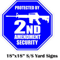 Protected By 2nd Amendment 18x18 Yard Sign by CottrellDesigns