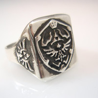 The Legend of Zelda Ring Solid Sterling Silver 925