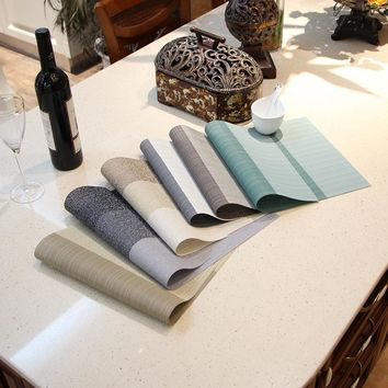 Environmental protection European  linen fashion PVC thickening, insulation, non slip table mat, coasters, bowl mat
