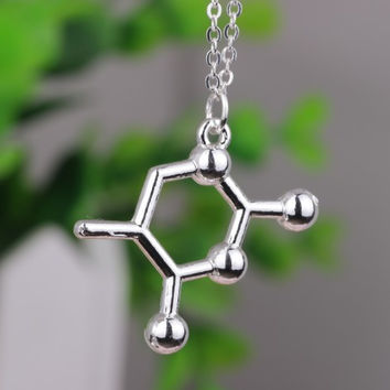 DNA Base Pair Molecule Necklace - Free + Shipping