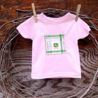 Baby Girls T Shirt Pink Tractor, 6 months