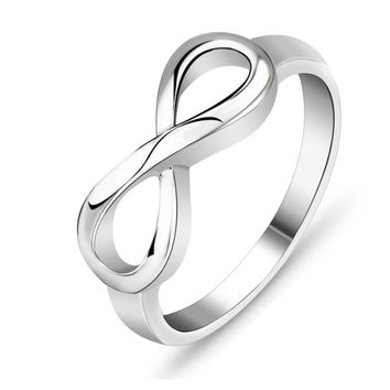 High Quality 925 Sterling Silver Infinity Ring Endless Love Symbol  Fashion Rings For Women