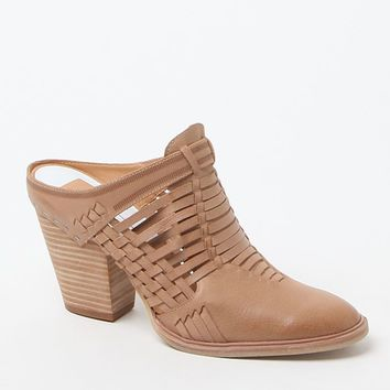 Dolce Vita Heeley Woven Leather Mules - Womens Boots - Tan