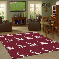 Alabama University Repeating Logo Rug