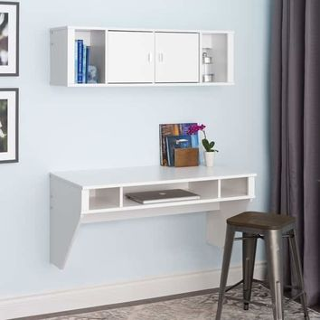 Prepac SOHO White Floating Hutch | Overstock.com Shopping - The Best Deals on Desks