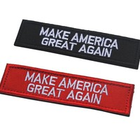 President Donald Trump Patch Make America Great Again Patches hook tactical morale badge custom for backpack cap