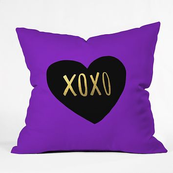 Leah Flores I Love You Like XO Throw Pillow