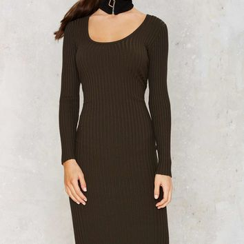 Selma Ribbed Midi Dress