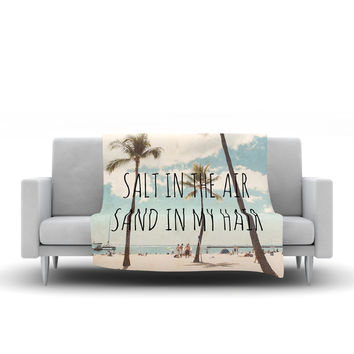 "Nastasia Cook ""Salt in the Air"" Beach Trees Fleece Throw Blanket"