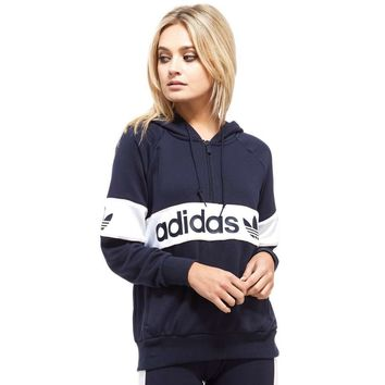 adidas Originals Authentic Half Zip Hoody | JD Sports