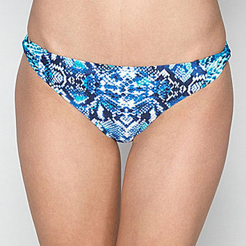 Coco Reef Grotto Snake Skinny Dip Hipster Bottom - Navy