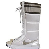 Nike Winter Hi 2 Boots Puffer Pearl White Brown Snow 317244-111 Women's Size 8