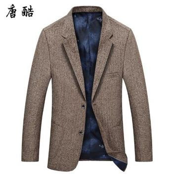 Tang cool 2018 spring and autumn men's leisure business suit high quality slim style new fashion suit jacket