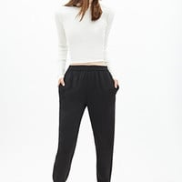 FOREVER 21 Classic Woven Joggers Black