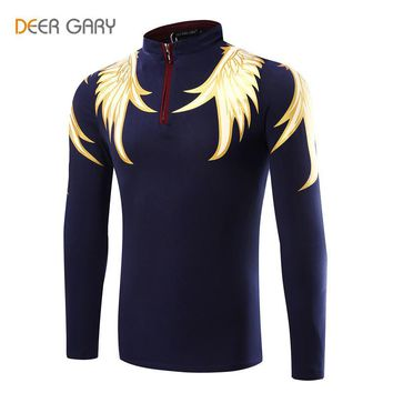 Design Men's Polo Shirts Printing Pattern Long-sleeved