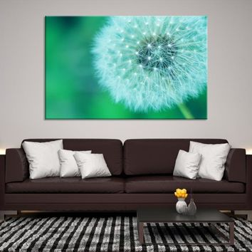 48565 - Flower Wall Art Canvas Print, Large Canvas DANDELION Flower Wall Art,