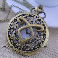 THE MORTAL INSTRUMENTS pocket watch necklace vintage style man gift