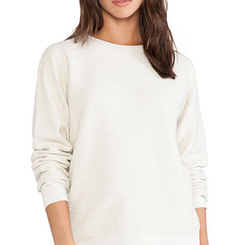 Daftbird French Terry Sweatshirt in Cream
