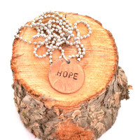 """""""Hope"""" Penny Necklace"""