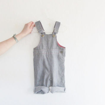 baby railroad conductor overalls . striped toddler boy girl dungarees .sale s a l e