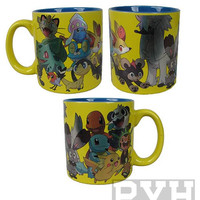 Pokemon Group Foil Print Mug