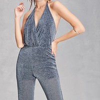 Metallic Halter Neck Jumpsuit