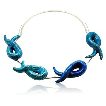ALL NEW Under The Sea Blue Enamel Necklace