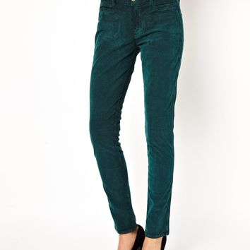 MiH Jeans The Ellsworth Jean In Teal Cord