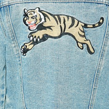 Tiger Graphic Denim Jacket