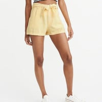 Womens Belted High-Rise Shorts | Womens Bottoms | Abercrombie.com