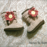 crochet baby boots baby clothes baby girl by stitchesbystephann