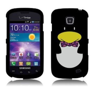 Snap On Hard Crystal Protector Cover Case For Samsung Illusion i110 - Penguin