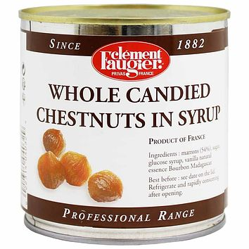 Clement Faugier Whole Candied Chestnuts in Syrup 19 oz. (540g)