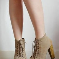 Suede Lita Platform Boots from S-F-E