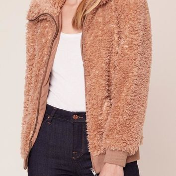 BB Dakota - Camel Teddy Or Not Sweater Jacket