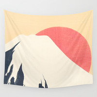 Deers in the snow Wall Tapestry by anipani