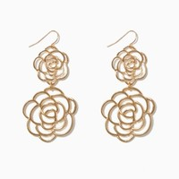 Open Rose Earrings | Fashion Jewelry | charming charlie