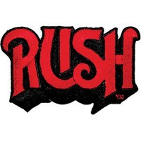 Rush Name Logo Rock Roll Music Band Embroidered Iron On Patch