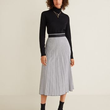 Printed pleated skirt - Women | MANGO United Kingdom