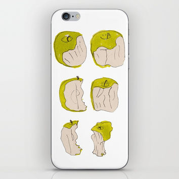 Eating process (Apple) // watercolor apple consumption iPhone Skin by Camila Quintana S